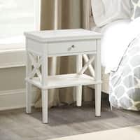 Gracewood Hollow Salinger Wooden Nightstand with Lower Shelf