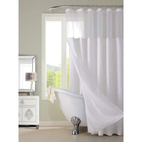 Porch & Den Roycroft Hotel Shower Curtain with Detachable Liner