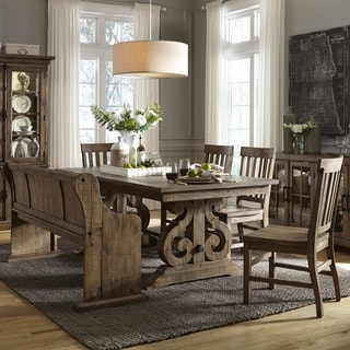 Shop Gracewood Hollow Aldous Rectangular Wood Dining Table In - Aged wood dining table