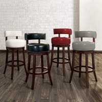 Gracewood Hollow Cooper Leatherette Swivel Barstool (Set of 2)