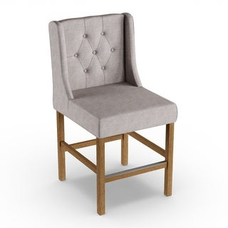 The Gray Barn Flying Hawk Tufted Upholstered 24-inch Counter Stool