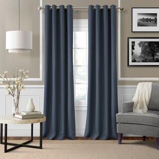 Strick & Bolton Krupa Grommet Linen Curtain Panel
