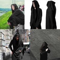 Daker Wizard Long Section Windbreaker Hooded Outwear Coat for Man