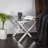 Cannes Side Table with Rrclaimed Wood Top