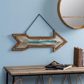 Arrow decorative Wall Art - Blue/Brown/Silver