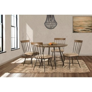 Forest Hill 5 Piece Round Dining Set with Side Chairs in Brown