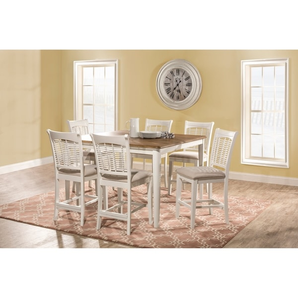 Bayberry 7 Piece Counter Height Dining Set with Non-Swivel Counter Height Stools