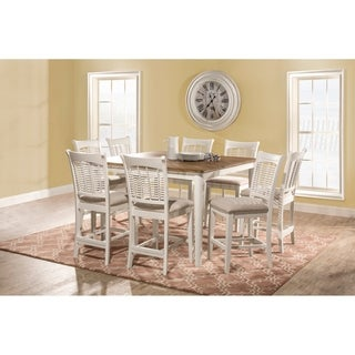 Bayberry 9 Piece Counter Height Dining Set with Non-Swivel Counter Height Stools