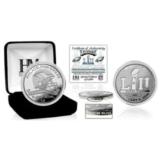 Philadelphia Eagles Super Bowl 52 Champions Pure Silver Mint Coin - Multi-color