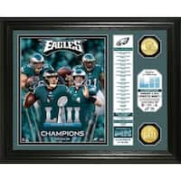 Eagles Super Bowl 52 Champs Banner Bronze Coin Photo Mint - Multi-color