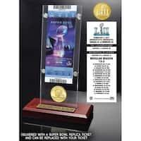 Philadelphia Eagles Super Bowl 52 Champions Bronze Coin Ticket Acrylic - Multi-color