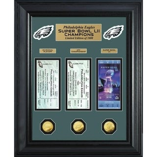 Philadelphia Eagles Road to Super Bowl 52 Deluxe Gold Coin & Ticket Collection - Multi-color