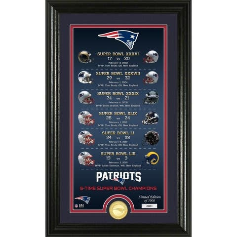 New England Patriots Legacy Bronze Coin Photo Mint - Multi-color