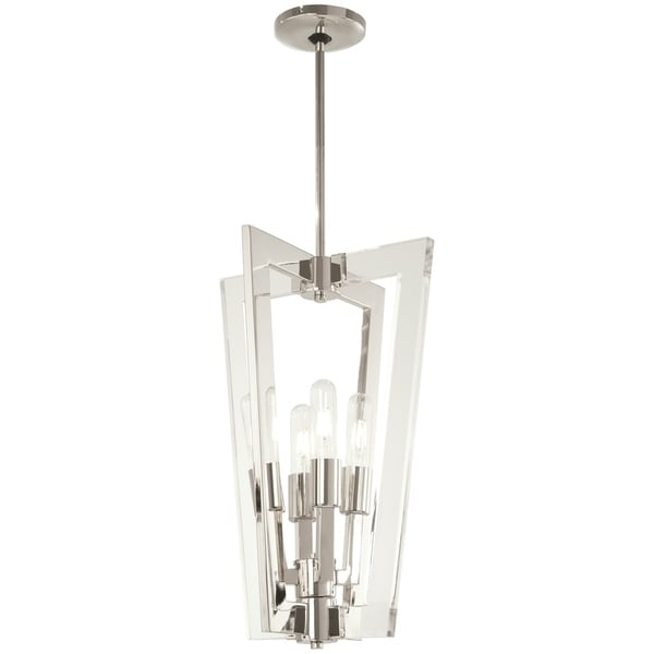 George Kovacs Crystal Chrome 4-Light 4 Light Pendant - Silver