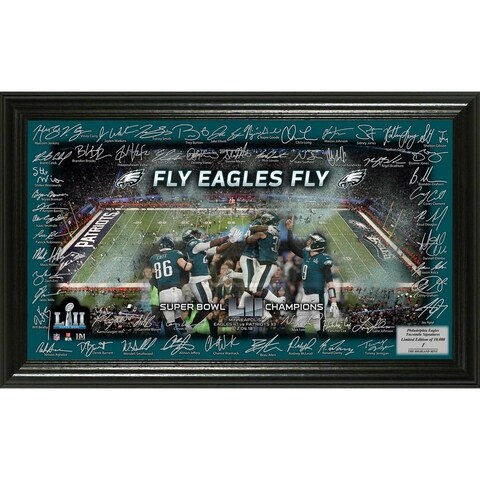 Philadelphia Eagles Super Bowl 52 Champions Signature Grid Frame - Multi-color