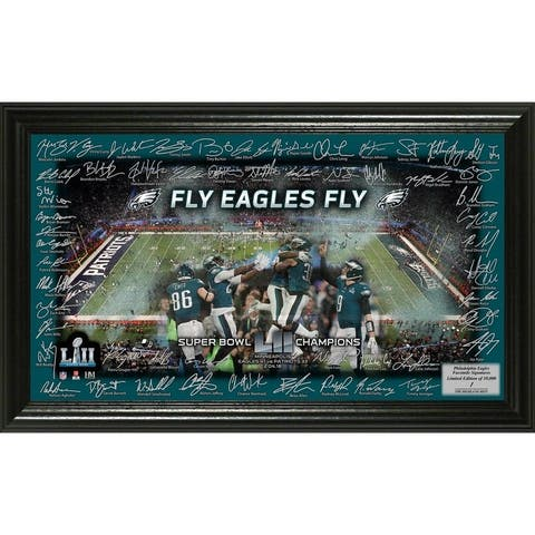 Philadelphia Eagles Super Bowl 52 Champions Signature Grid Frame - Multi-color