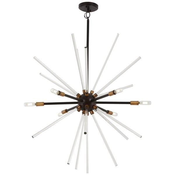 George Kovacs Spiked Bronze Metal/Glass 6-light Pendant