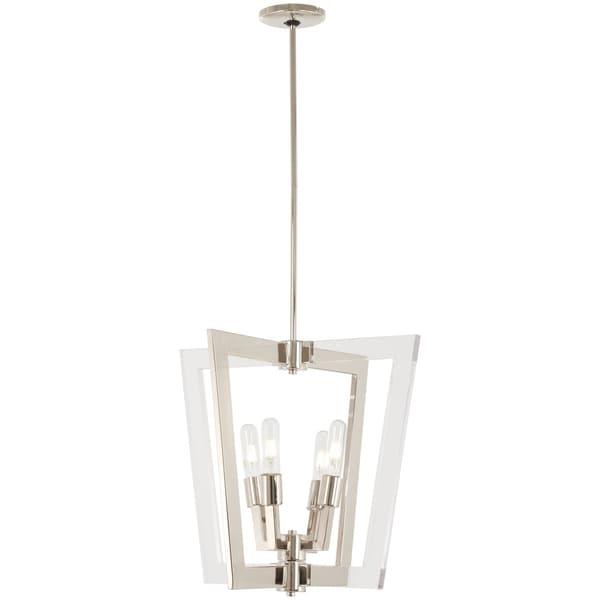 George Kovacs Crystal Chrome 4-Light Polished Nickel 4 Light Pendant - Silver