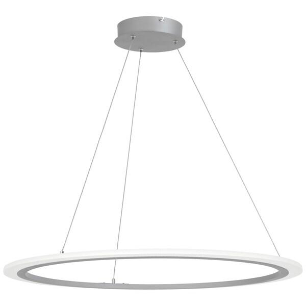 George Kovacs Discovery Silvertone Acrylic 1-light LED Pendant Light
