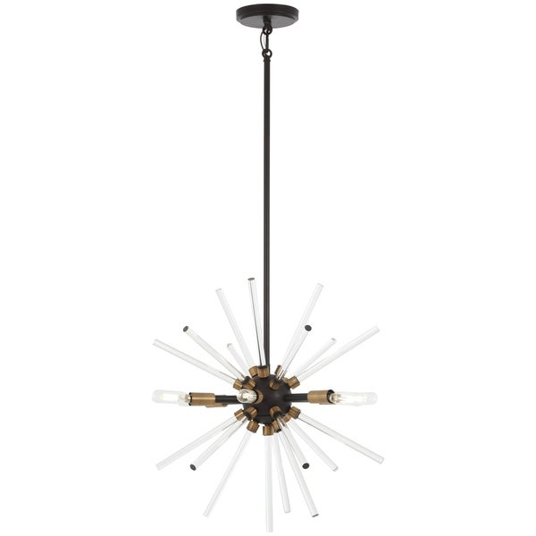 George Kovacs Spiked Bronze Metal 6-light Pendant