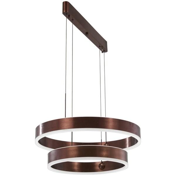 George Kovacs Rendezvous 1-Light Satin Bronze Led Pendant