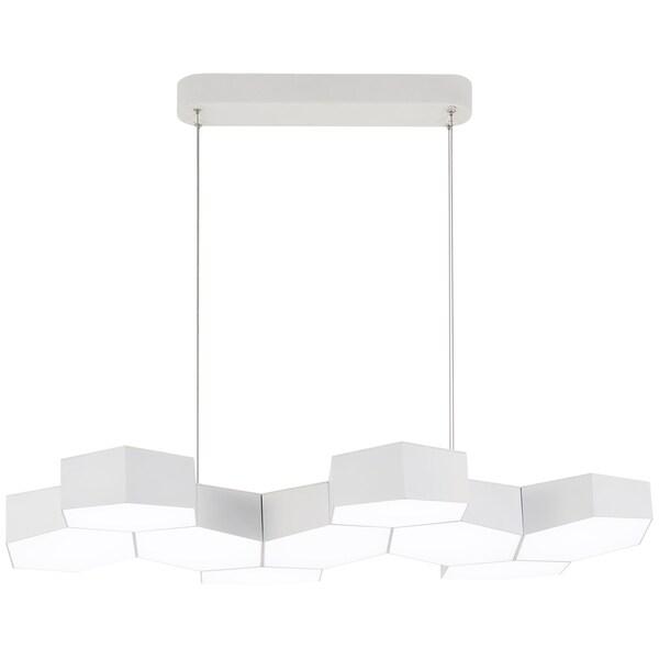 George Kovacs Hexacomb 1-Light Matte White Led Pendant