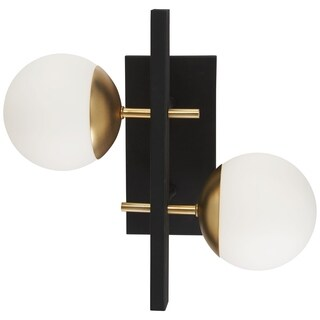 George Kovacs Alluria 2-Light Weathered Black W/Autumn Gold Wall Sconce