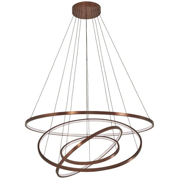 George Kovacs Full Orbit 1-Light Satin Bronze Led Pendant