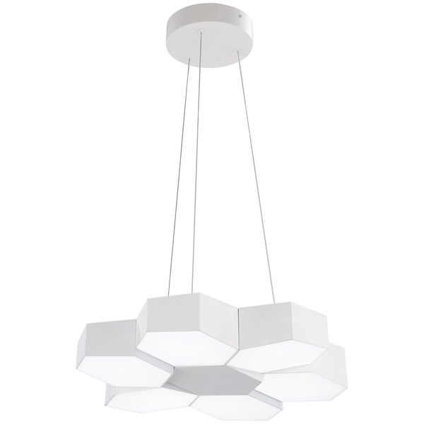 George Kovacs Hexacomb 1-Light Matte White Led Pendant