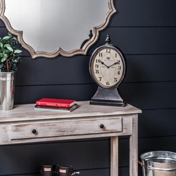 Home Goods Clocks: Shop The Gray Barn Jartop Metal Table Clock