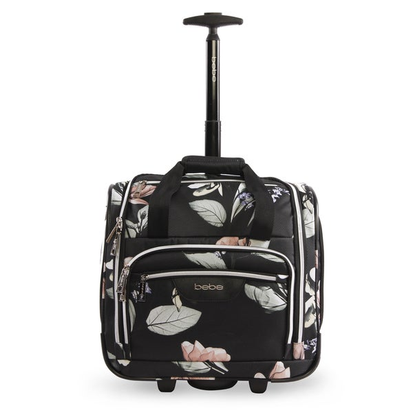 Shop Bebe Valentina 16-inch Under the Seat Rolling Carry-On Tote Bag ... 51990ed9e3