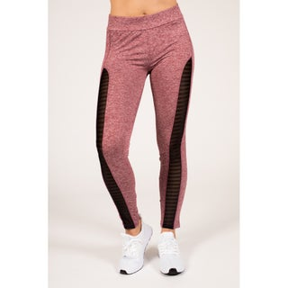 Active Space-Dye Legging with Striped Mesh (More options available)