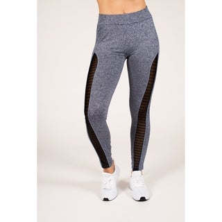 Active Space-Dye Legging with Striped Mesh