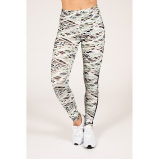 Active Geometric Print Legging with Double Mesh Insert