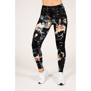 Active Multi-Color Marble Legging with Double Mesh Insert