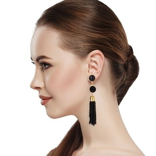 Handmade Saachi Druzy Tassel Earring (China)