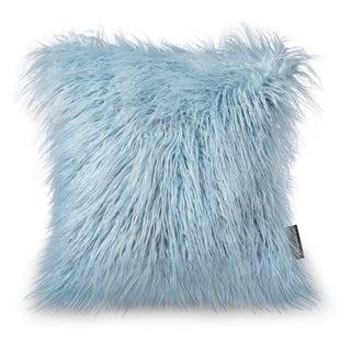 Luxury Series Merino Style Light Blue Fur Throw Pillow Case