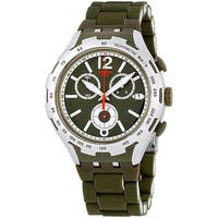 Swatch Green Attack Mens Watch YYS4022AG