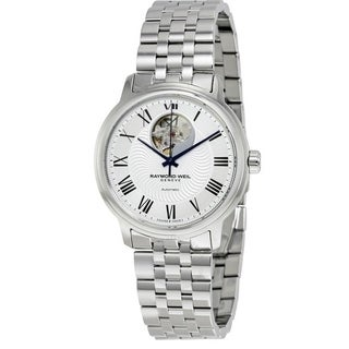 Raymond Weil Maestro Automatic Leather Mens Watch 2227-ST-00659