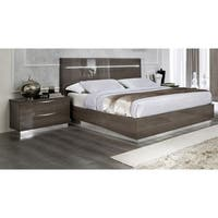 Luca Home Candice Silver Birch Wood Bed