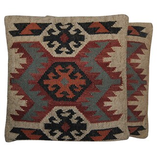 Handmade Herat Oriental Indo Kilim 20'' Throw Pillows (Set of Two)