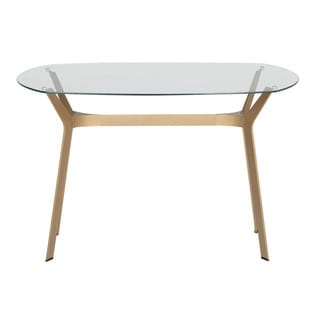 Silver Orchid Nielson Modern Glass 48-inch Dining Table