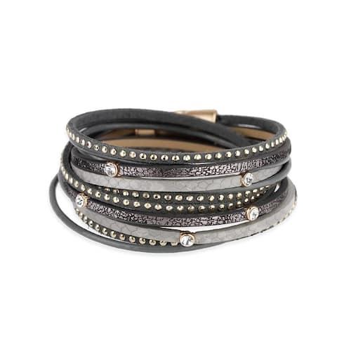 f4899178d Buy Leather Bracelets Online at Overstock   Our Best Bracelets Deals