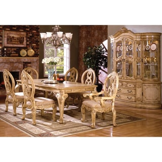 Furniture of America Tise Traditional White Solid Wood China Cabinet