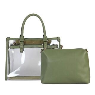 Diophy Large Fashion Clear Tote Womens Handbag - L