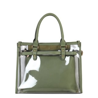Diophy Large Fashion Clear Tote Womens Handbag - L