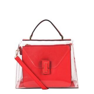 Diophy Large Fashion Clear Womens Top Handle Handbag - L
