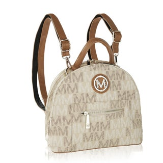 MKF Collection by Mia K Farrow Ariel 2 in 1 Shoulder Bag and Backpack (Option: Beige)