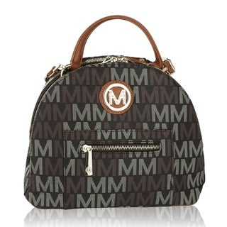 MKF Collection by Mia K Farrow Ariel 2 in 1 Shoulder Bag and Backpack (Option: Brown)