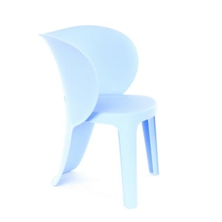 Elephant Inspirational Baby Blue Children's Chair (Set of 4)